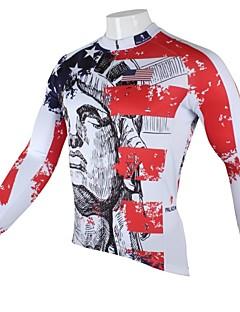 billige Sykkelklær-ILPALADINO Herre Langermet Sykkeljersey Sykkel Fort Tørring, Ultraviolet Motstandsdyktig, Pustende