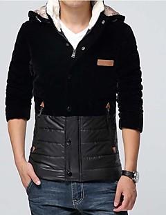 billige Lagersalg-Skymoto® Men's Plus Size Patchwork Cotton Coat