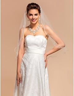 Uma Camada Borda Lápis Véus de Noiva Véu Cotovelo Com 27,56 cm (70cm) Tule