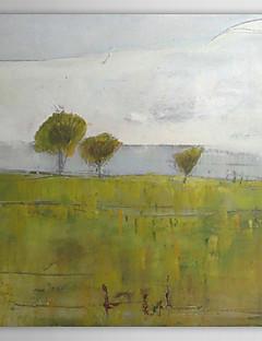 tanie Pejzaże abstrakcyjne-Hang-Malowane obraz olejny Ręcznie malowane - Krajobraz Nowoczesne Płótno / Rozciągnięte płótno