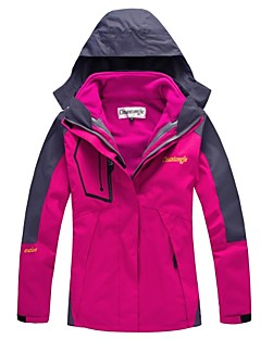 cheap Softshell, Fleece & Hiking Jackets-Women's Hiking Jacket Outdoor Winter Waterproof Thermal / Warm Windproof Detachable Fleece Thick Fleece Windbreaker 3-in-1 Jacket Winter
