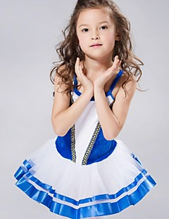 cheap Ballet Dance Wear-Kids' Dancewear Dresses&Skirts Tutus Spandex Chiffon Velvet Sleeveless