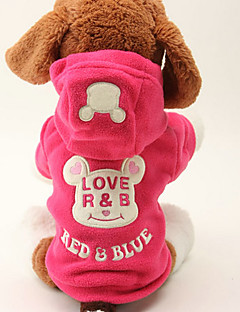 Dog Hoodie Black / Rose Dog Clothes Winter / Spring/Fall Cartoon Cute / Keep Warm