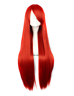 cheap Anime Cosplay Wigs-Cosplay Wigs Fairy Tail Erza Scarlet Red Long Anime Cosplay Wigs 80 CM Heat Resistant Fiber Female