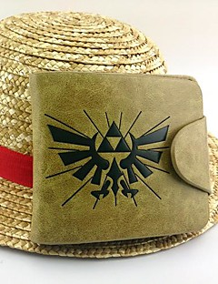 Veske Inspirert av The Legend of Zelda Cosplay Anime / Videospil Cosplay Tilbehør Veske Gul Patentert Lær / PU Leather Mann