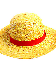 Hat/Cap Inspired by One Piece Monkey D. Luffy Anime Cosplay Accessories Cap / Hat Yellow Straw Rope Male