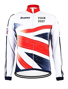 billige Sykkelklær-Kooplus Herre Dame Unisex Langermet Sykkeljakke Sykkel Jersey Velg Farge 6 # Velg Farge 7 # Velg Farge 8 # Velg Farge 9 # Velg Farge 10 #