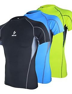 Arsuxeo Herre Sykkeljersey T-skjorte til jogging Kortermet Fort Tørring Anatomisk design Anvendelig Anti-Statisk Pustende Komprimering
