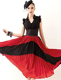 ジョアン子猫の女性のマルチカラーのスカート、ビンテージ/ビーチ/カジュアル/パーティー/仕事ミディ