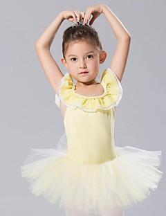 billige Ballettantrekk-Danseklær til barn Kjoler & Skjørt Tutuer Spandex Tyll Ermeløs