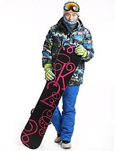 billiga Skid- och snowboardkläder-Herr Skidjacka och -byxor Utomhus Vinter Vattentät Håller värmen Vindtät Damm säker Bärbar Andningsfunktion Vinterjacka 3-i-1-jackor