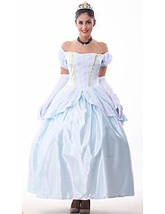 billige Halloweenkostymer-Prinsesse Eventyr Cosplay Kostumer Party-kostyme Dame Halloween Karneval Festival / høytid Drakter Lapper / Satin
