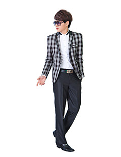 Tuxedos Slim Fit Slim Notch Single Breasted One-button Polyester Checkered