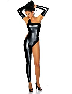Ninja Zentai asut Cosplay-Asut Naiset Halloween Karnevaali Festivaali / loma Halloween-asut Musta Kultainen Hopea Yhtenäinen