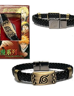 Jewelry Inspired by Naruto Cosplay Anime Cosplay Accessories Bracelet Black Alloy Male