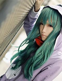 Cosplay Perukları Kagerou Projesi Saori Kido Yeşil Orta Anime / Video Oyunları Cosplay Perukları 65 CM Isı Dirençli Fiber Kadın