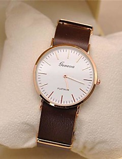 Pánské Náramkové hodinky Křemenný Kůže Kapela Minimalistické Černá Orange Hnědá