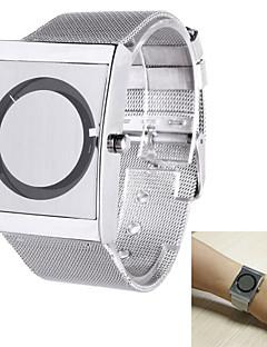 billige -Herre Armbåndsur Unike kreative Watch Quartz Rustfritt stål Band Sølv
