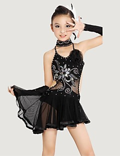 Shall We Latin Dance Children Polyester/Lycra (Dress/Neckwear/Bracelet)Costumes