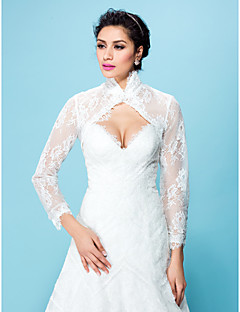 cheap Wedding Wraps-Half Sleeves Polyester Lace Wedding Party Evening Party / Evening Women's Wrap Wedding  Wraps With Embroidery Coats / Jackets