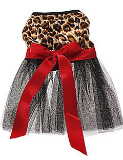 levne Oblečení pro psy-Kočka Pes Šaty Oblečení pro psy Zvíře Hnědá Terylen Kostým Pro domácí mazlíčky Dámské Svatba