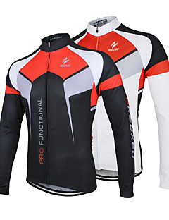 Arsuxeo Cycling Jersey Men's Long Sleeves Bike Jersey Jacket Tops Quick Dry Anatomic Design Front Zipper Antistatic Breathable Limits