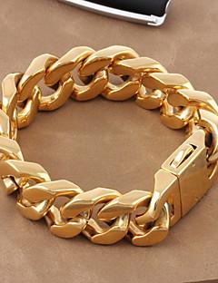 Bărbați Pentru femei Brățări cu Lanț & Legături Lux Clasic Auriu Oțel titan Placat Auriu Bijuterii Bijuterii Pentru Nuntă Zilnic Cadouri
