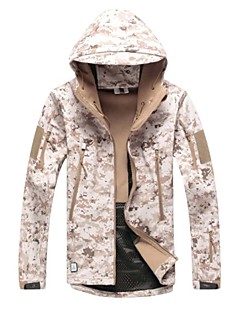 Camouflage Hunting Jacket Waterproof Ultraviolet Resistant Dust Proof Breathable Unisex Long Sleeves Classic Camouflage Jacket Softshell