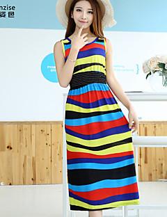 Χαμηλού Κόστους Stripes & checks-Γυναικεία Κλασσικό & Διαχρονικό Παντελόνι - Ριγέ Κλασσικό στυλ Χρώμα Οθόνης