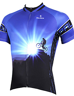 cheap Cycling Jerseys-ILPALADINO Cycling Jersey Men's Short Sleeves Bike Jersey Top Bike Wear Quick Dry Ultraviolet Resistant Breathable Compression