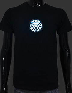 led t-shirts sound aktiviert led-leuchten baumwolle neuheit tuch für bar