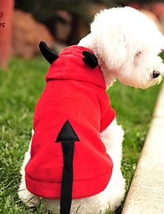 billiga Hundkläder-Katt Hund Dräkter / Kostymer Huvtröjor Hundkläder Vampyr Röd Polär Ull Kostym För husdjur Herr Dam Gulligt Cosplay Halloween