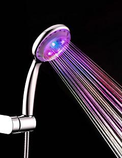 עכשווי שפורפרת יד למקלחת כרום מאפיין for  LED גשם , ראש המקלחת