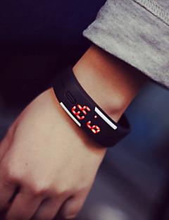 billige Armbåndsure-Par Digital Armbåndsur Gummi Bånd Elegant / Mode Sort / Hvid / Blåt / Rød / Orange / Grøn / Pink / Gul
