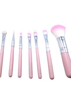 billige Sminkebørstesett-6pcs Makeup børster Profesjonell Rougebørste / Øyenskyggebørste / øyebryn børste Syntetisk hår Bærbar / Økovennlig / Profesjonell Tre