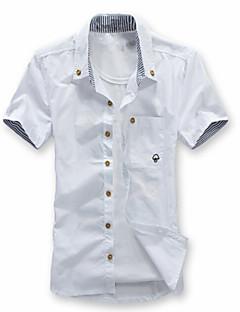 お買い得  メンズシャツ-男性用 週末 プラスサイズ シャツ ボランダウン スリム ソリッド
