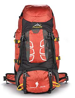55 L Mochila para Excursão Alpinismo Esportes Relaxantes Acampar e Caminhar Prova-de-Água Á Prova-de-Pó Vestível Multifuncional