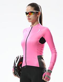 billige Sykkeljerseys-SANTIC Dame Langermet Sykkeljersey Sykkel Jersey, Fort Tørring, Ultraviolet Motstandsdyktig, Pustende