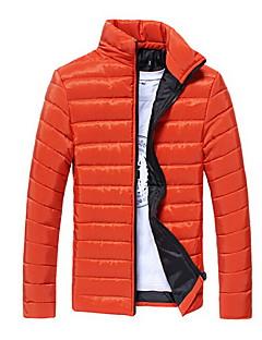 コート レギュラー パーカー メンズ,カジュアル/普段着 プラスサイズ ソリッド ポリエステル ポリエステル-シンプル 長袖