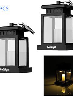 billige Lampestolper-YouOKLight 2pcs Dekorations Lys Soldrevet Batteri Vanntett