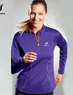 billiga Träning-, jogging- och yogakläder-Dam T-shirt för jogging - Purpur sporter Collegetröja / Överdelar Långärmad Sportkläder Snabb tork Elastisk