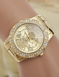 yoonheel Damen Modeuhr Simultan? Diamant Uhr Quartz Imitation Diamant schweizerisch Designer Metall Band Gold Golden