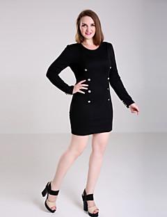 tanie AW 18 Trends-Damskie Puszysta Casual Pochwa Sukienka - Solidne kolory Nad kolano