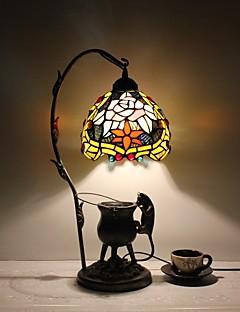 tanie Lampki nocne-Muślin Wiejski Tradycyjny / Classic Różnokolorowe cienie Lampa stołowa Na Metal 110-120V 220-240V