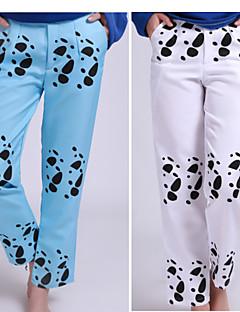 """billige Anime Kostymer-Inspirert av One Piece Trafalgar Law Anime  """"Cosplay-kostymer"""" Cosplay Topper / Underdele / Mer Tilbehør Dyr Hakama bukser Til Herre /"""