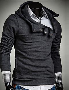 Men's Casual/Daily Hoodie Solid Cotton Long Sleeve