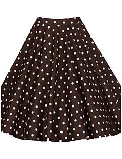お買い得  レディーススカート-婦人向け ヴィンテージ 膝丈 スカート,コットン マイクロエラスティック