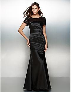 billige Paljettkjoler-Havfrue Gulvlang Sateng Formell kveld Kjole med Sidedrapering Paljetter av TS Couture®