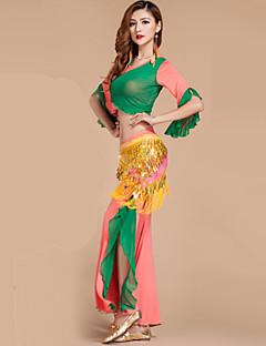 Dança do Ventre Roupa Mulheres Actuação Raiom Poliéster Frufru 2 Peças Blusa Calças
