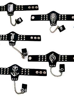 billige Anime Cosplay Tilbehør-Smykker Inspirert av Attack on Titan Cosplay Anime Cosplay-tilbehør Armbånd / Ringetone Type PU Leather / Legering Herre / Dame ny / Varmt Halloween-kostymer